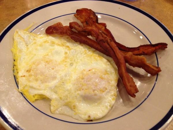 Eggs and bacon Bob Evans