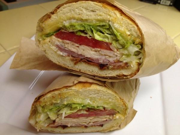 Lincecum sandwich Ike's Place