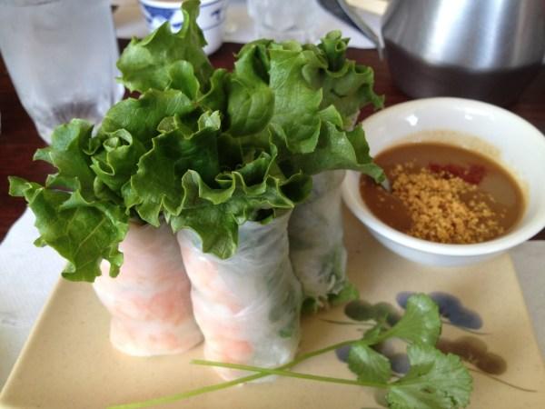 Shrimp spring rolls Hometown Noodle 2
