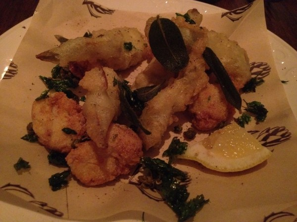 Fried sweetbreads and artichokes Locanda