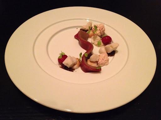 Acorn-cranberry custard Benu